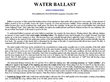 Cached version of Water Ballast