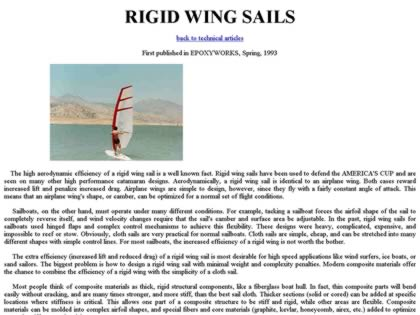 Cached version of Rigid Wing Sails