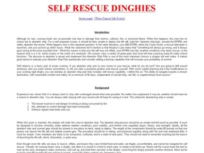Cached version of Dinghies for Self Rescue