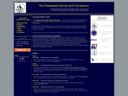 Cached version of Chesapeake Sailing Yacht Symposium