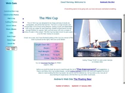 Cached version of Kris's Boat Building Web Site