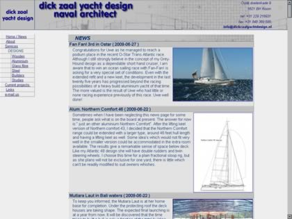 Cached version of Dick Zaal Yacht Design
