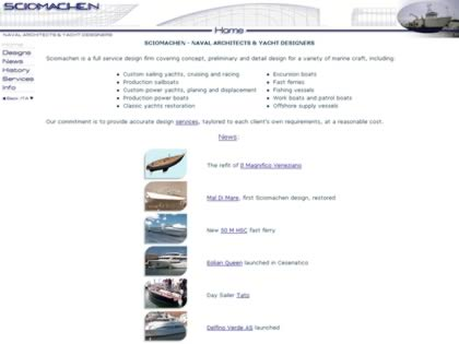 Cached version of Sciomachen Naval Architects and Yacht Designers