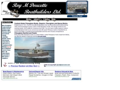 Cached version of Roy M. Doucette Boatbuilders