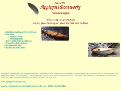 Cached version of Applegate Boatworks
