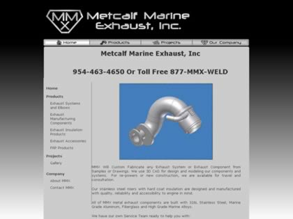 Cached version of Metcalf Marine Exhaust, Inc.