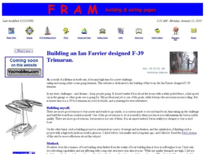 Cached version of Fram building & sailing pages