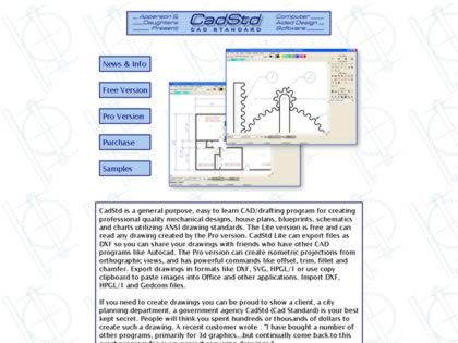 Cached version of CadStd - Cad Standard Lite freeware and inexpensive Pro software.