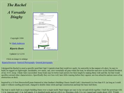 Cached version of Rachel, A Versatile Dinghy