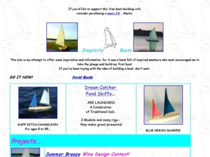 Cached version of Simplicity Boats Home Page