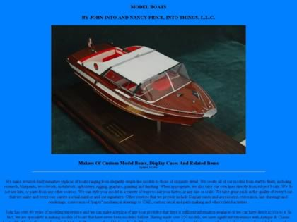 Cached version of Model Boats by John Into and Nancy Price