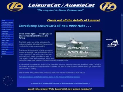 Cached version of LeisureCat Power Catamarans