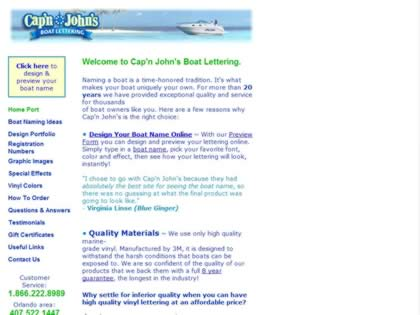 Cached version of Capn John's Boat Lettering