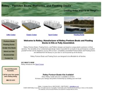 Cached version of Rettey Pontoon Boats