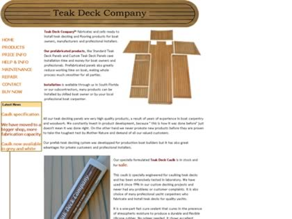 Cached version of Teak Deck Company