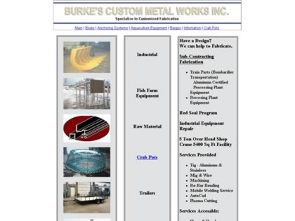 Cached version of Burke's Custom Metal Works Inc.