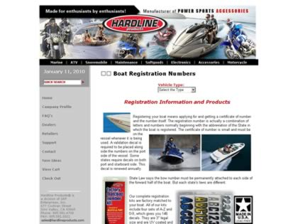 Cached version of Boat Registration Numbers