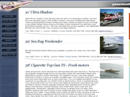 Cached version of * Powerboat Listings