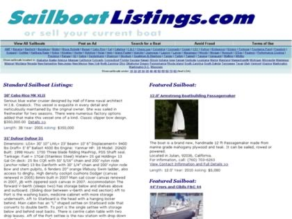 Cached version of * Sailboat Listings