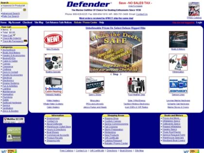 Cached version of Defender Industries