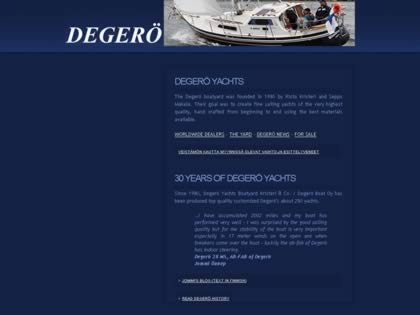 Cached version of Degerö Yachts