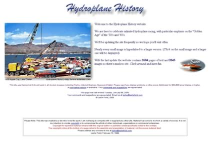 Cached version of Hydroplane History