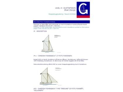Cached version of Axel H Gustafsson Boat Design