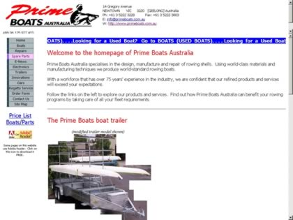 Cached version of Prime Boats Australia
