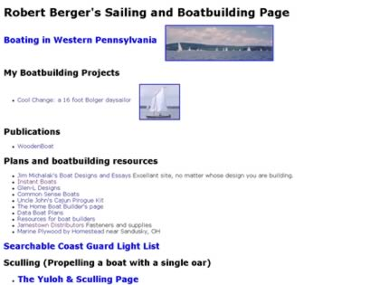 Cached version of Robert Berger's Sailing and Boatbuilding Page