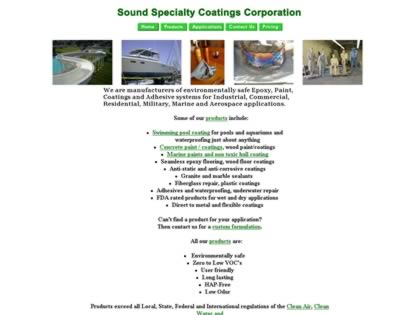 Cached version of Sound Specialty Coatings Corporation