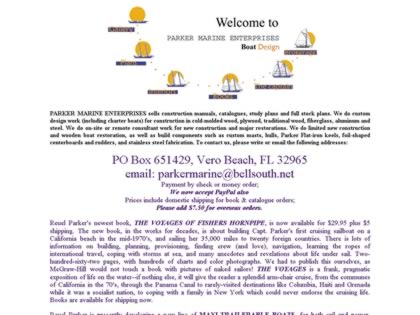 Cached version of Parker Marine Enterprises