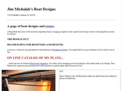 Cached version of Jim Michalak's Boat Designs
