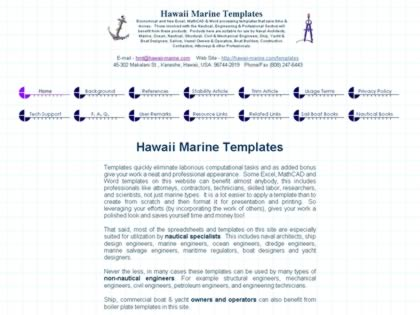 Cached version of Hawaii Marine Templates