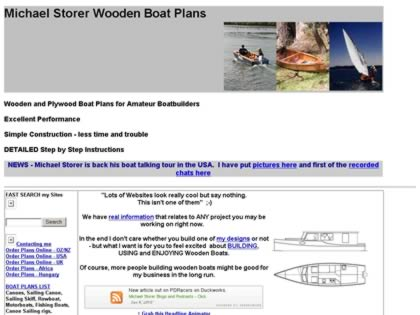 Cached version of Michael Storer Wooden Boat Plans