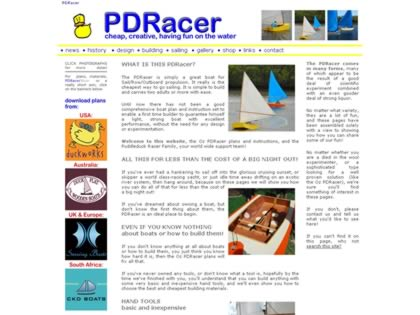 Cached version of PDRacer - sail, row, power, fish
