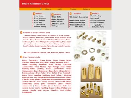 Cached version of Brass Fasteners India