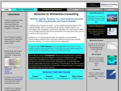 Cached version of Williamson-Consulting Yacht Project Management Consultants