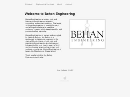 Cached version of Behan Engineering