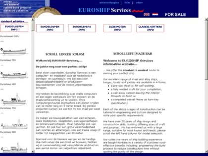 Cached version of euroship services