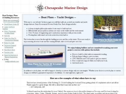 Cached version of Chesapeake Marine Design