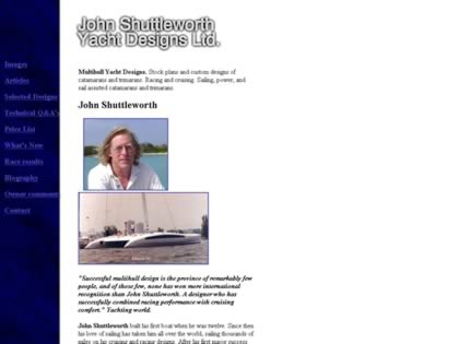Cached version of John Shuttleworth Yacht Design