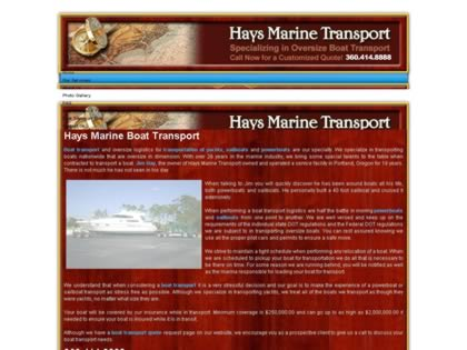 Cached version of Hay's Marine Transport