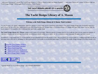 Cached version of The Yacht Design Library of A. Mason