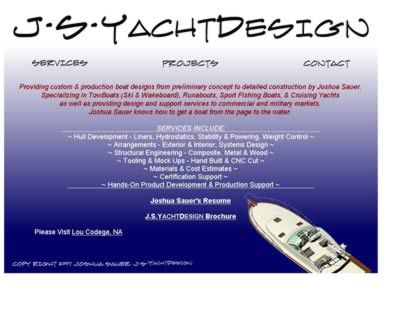 Cached version of JSYachtDesign