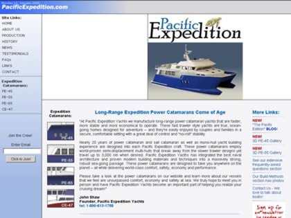 Cached version of Pacific Expedition Yachts