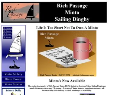Cached version of Minto Sailing Dinghy