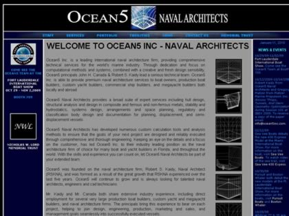 Cached version of Ocean5 Naval Architects