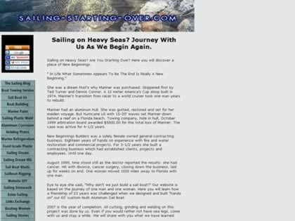 Cached version of Sailing Starting Over