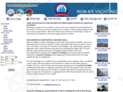 Cached version of Ron-Ka Yachting Co.