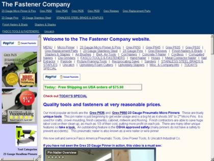 Cached version of The Fastener Company.com